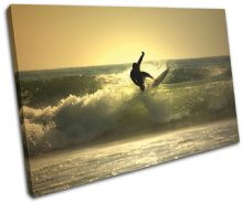 Surfer Sunset Seascape - 13-0961(00B)-SG32-LO